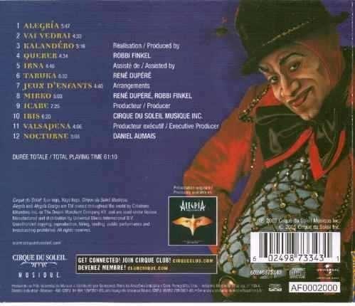 cd cirque du soleil - alegria