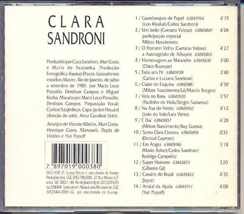 cd clara sandroni - clara sandroni - 1989