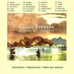 cd - clara sverner - o piano das américas - raro!!! novo!!!