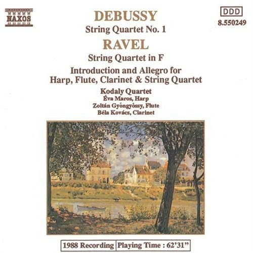 cd claude debussy - maurice ravel (string quartet)