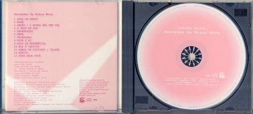 cd claudia telles - saudades da bossa nova - 2004
