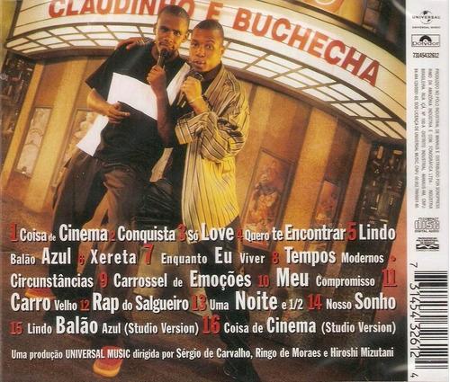 cd claudinho e buchecha - ao vivo (1999) * lacrado raridade