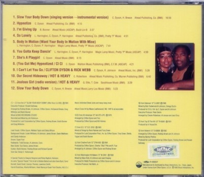 cd clifton dyson - slow your body down + 8 tracks