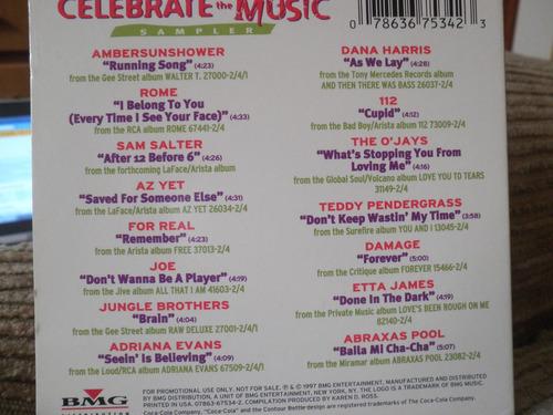 cd coca - cola  compilation celebrate the music 1997