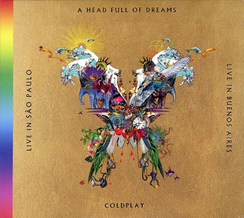 cd coldplay - the butterfly package (2018) cd duplo, dvd du