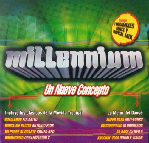 cd colección millennium un nuevo concepto (1999 dance 90's)