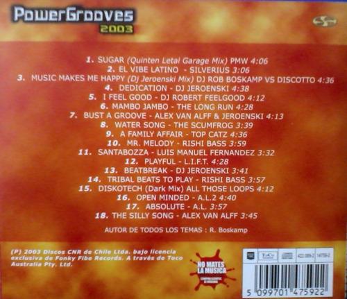 cd coleccion powergrooves (compilado electrodancetrance)2003