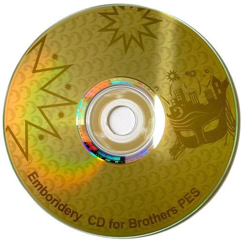 Cd Coleção Bordados Disney Pes Jef Brother + 3800 Desenhos