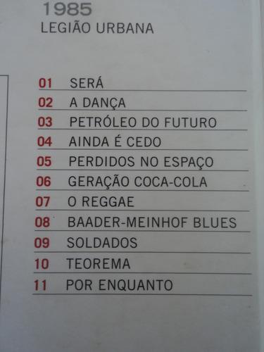 cd-coleção legião urbuna-1985-digipack:rock pop