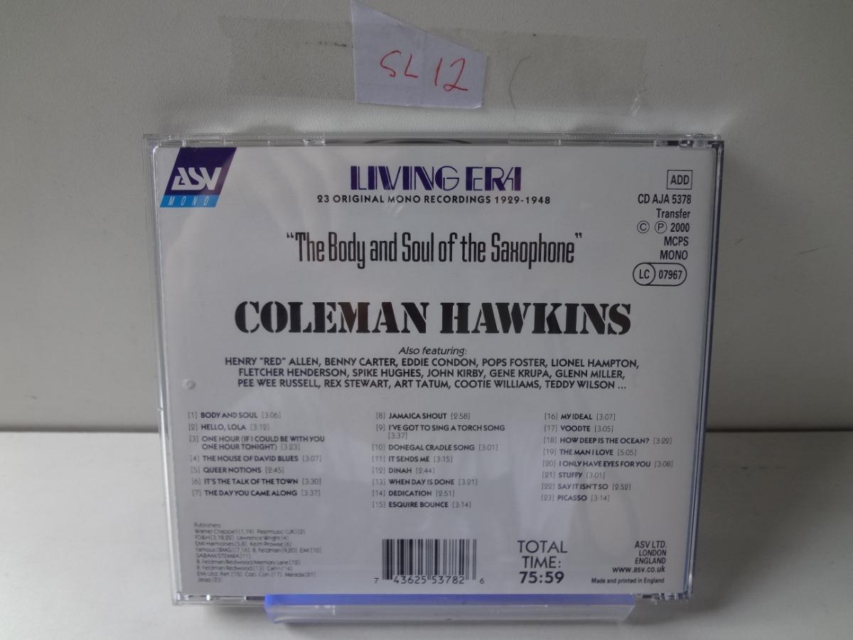 Cd Coleman Hawkins - Body And Souls (importado)