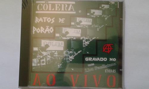 cd cólera e ratos de porão ao vivo no teatro lira paulistana