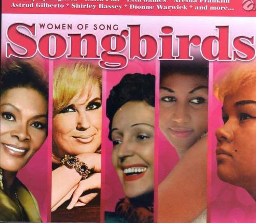 cd compilado women of song: songbirds edith piaf, aretha f