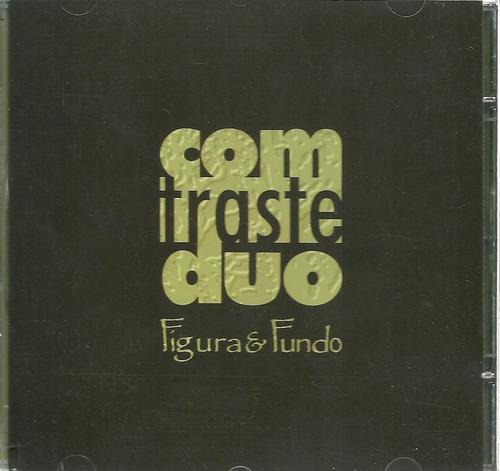 cd comtraste duo : figura e fundo novo, original