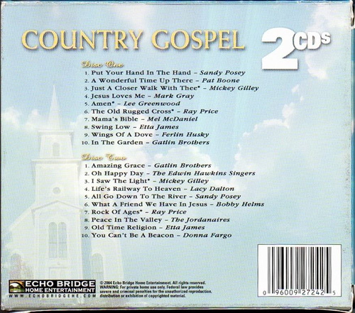 cd - country gospel - vol 3 e 4 (2 cds) - 1998 - importado