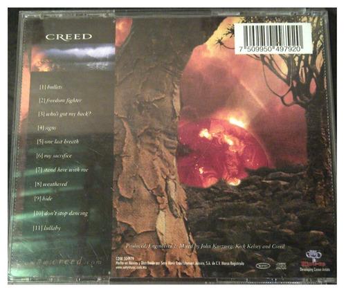cd - creed - weathered - 2001 - original