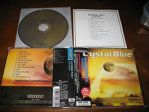 cd crystal blue/europe,treat, alien,tnt,street talk,da vinci