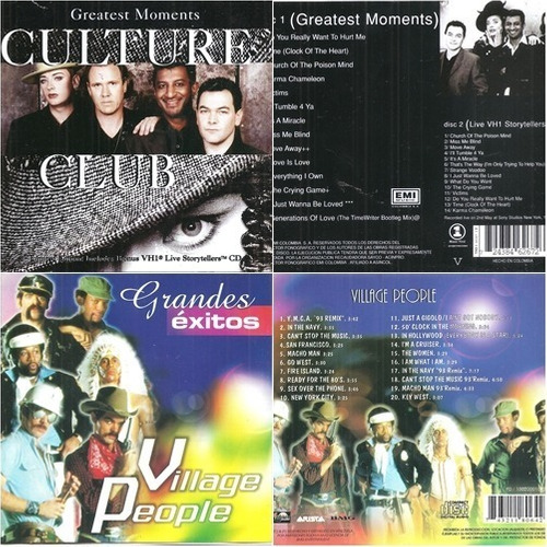 cd culture club (2cds) / village people grandes éxitos (3x1)