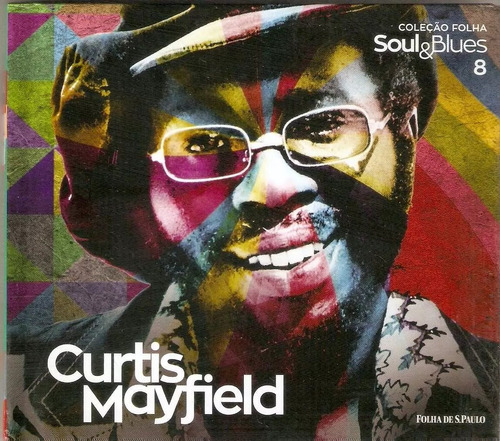 cd  curtis mayfield  coleção folha soul & blues novo