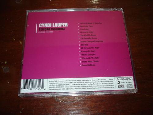 cd - cyndi lauper - seleção essencial