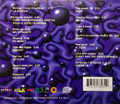 cd dance club vol 3 la bouche no mercy le click scatman