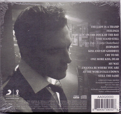 cd daniel boaventura - one more kiss ( digpac ) - novo***