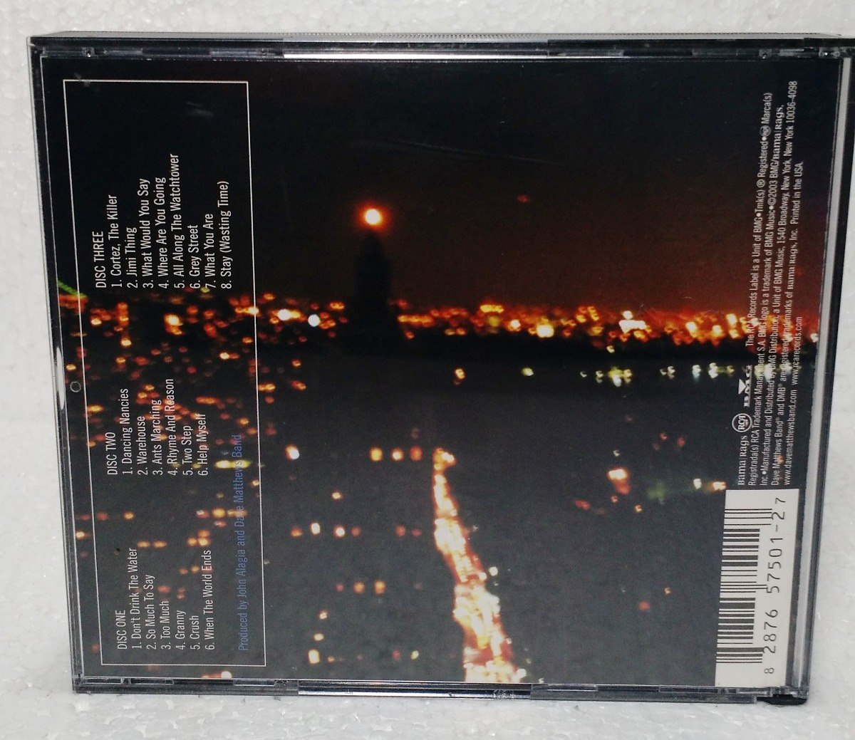 Cd Dave Matthews Band - The Central Park Concert - Triplo