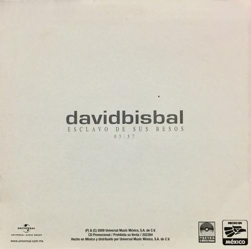 cd david bisbal esclavo de sus besos promo usado