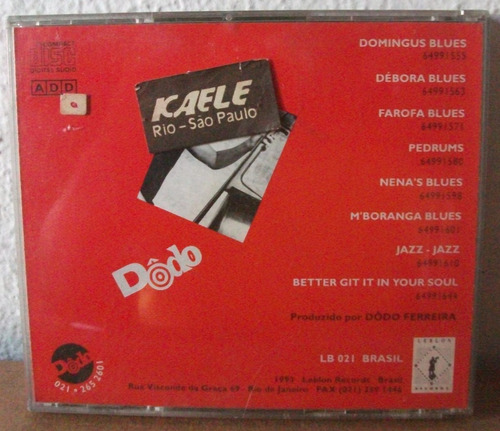 cd dôdo ferreira farofablues instrumental leblon records 93