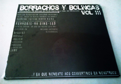 cd de borrachos y bolingas iii, punk hardcore venezuela 2009
