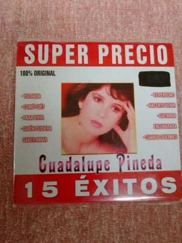 cd de guadalupe pineda, 15 exitos originales, ed.superprecio