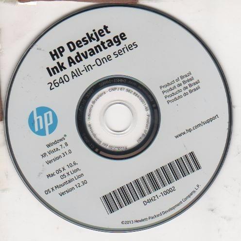 cd de instalaçao impressora   hp deskjet 2640