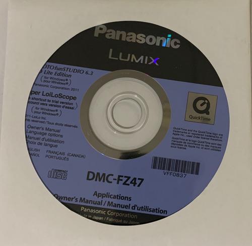 cd de instalação câmera panasonic lumix dmc-fz47