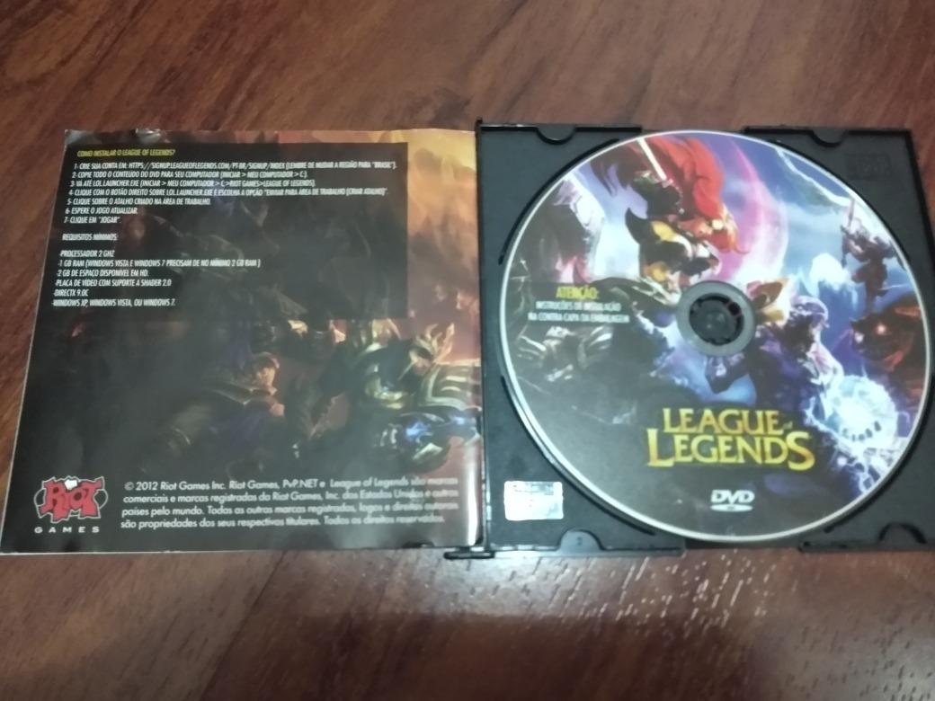Cd De Instalação League Of Legends ( Colecionador )