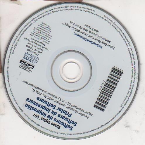cd de instalação para impressora epson c 67