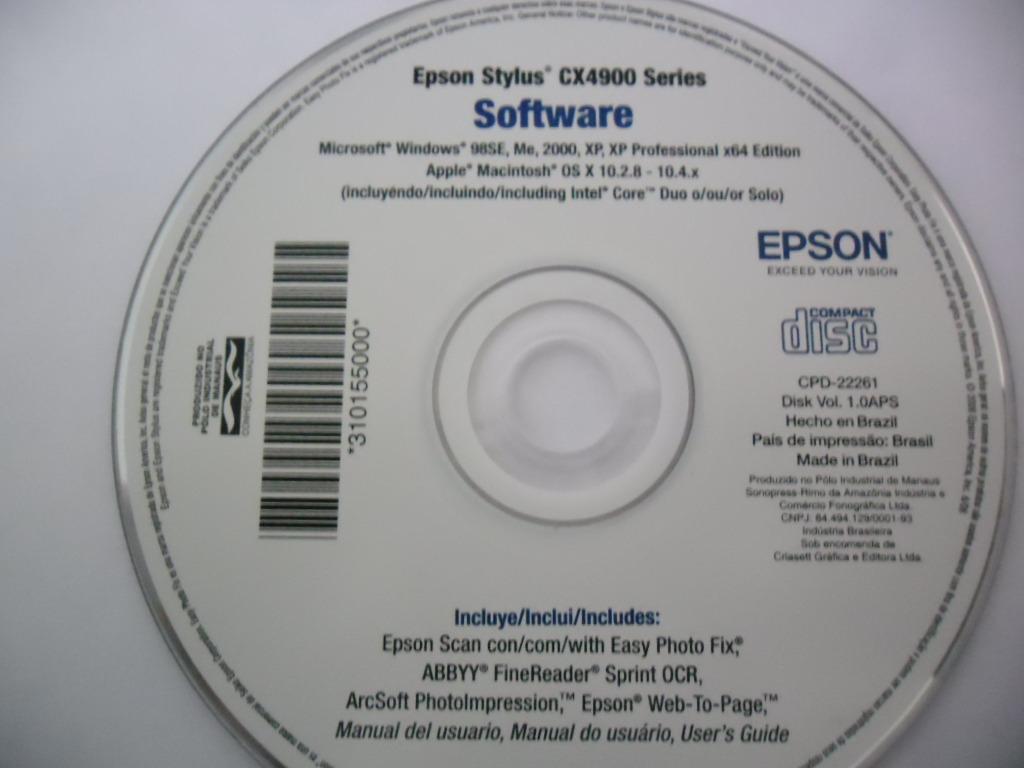 driver de instalao da impressora epson stylus cx4900