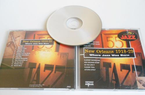 cd de jazz new orleans 1918-20 - where jazz was born