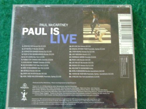 cd de musica: paul mc cartney - paul is live!!! origen: uk