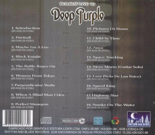 cd deep purple bombay live 95 clássico original