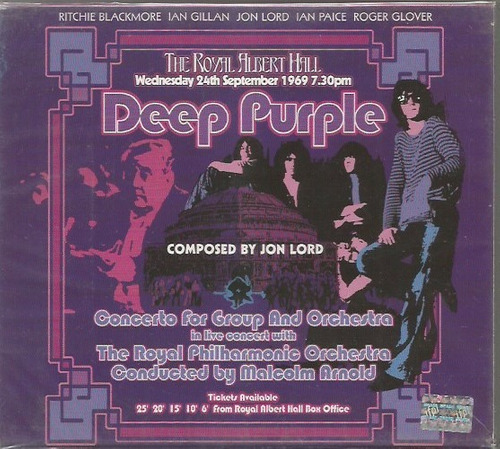 cd deep purple & the royal philharmonic orch. (usado-otimo)