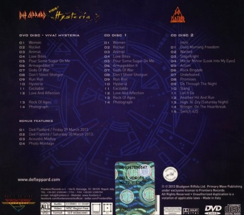 cd : def leppard - viva hysteria (with dvd, deluxe edition)