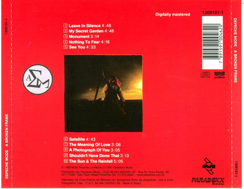 cd depeche mode - abroken frame