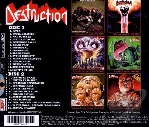 cd destruction - cd best of 1992 importado - thrash metal