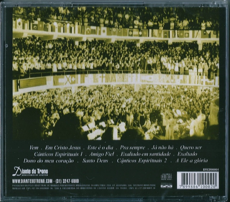 EXALTADO CD BAIXAR 2 DIANTE DO TRONO