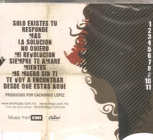 cd diego ( rbd) - edicao em espanhol - grupo rebelde