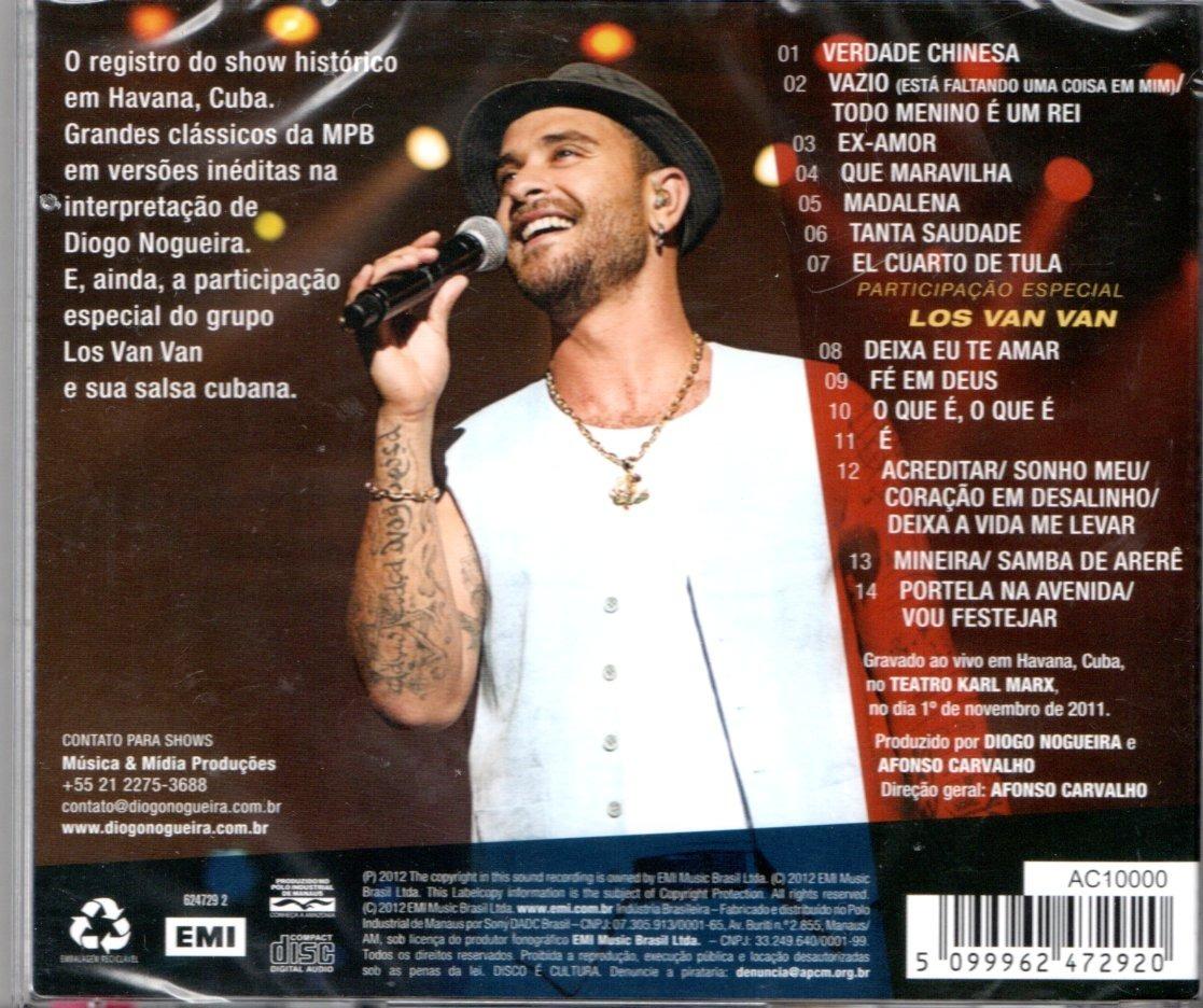 audio dvd diogo nogueira ao vivo em cuba