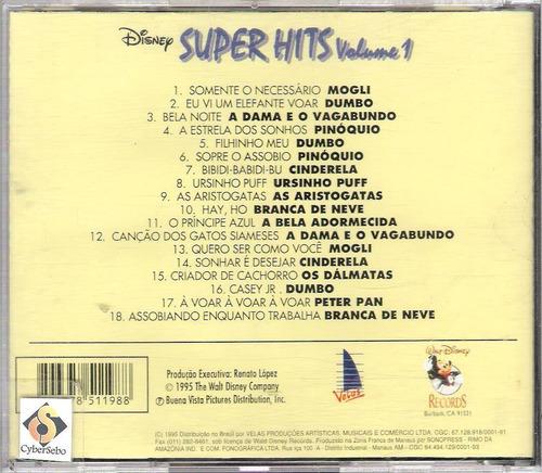 cd-disney super hits-vol.1-em otimo estado