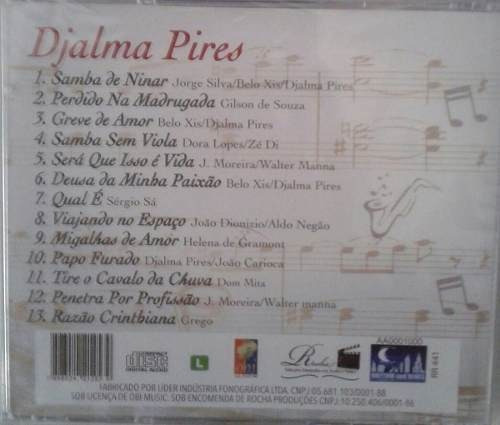cd djalma pires / samba de ninar - b283