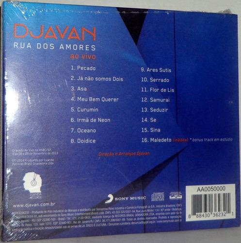 cd djavan - rua dos amores ao vivo
