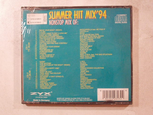 cd doble summer hit mix '94 made in germany compilado varios