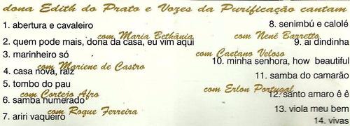 cd dona edith do prato part. bethania caetano samba de roda